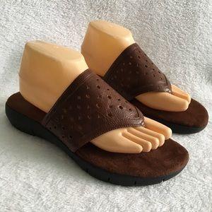Aerosoles Brown Slip-On Flip Flop Sandals